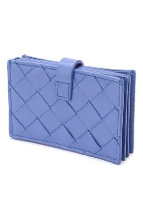Женский кожаный футляр для кредитных карт BOTTEGA VENETA светло-голубого цвета, арт. 592776/VCPP3 | Фото 2