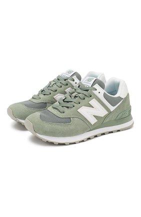 Замшевые кроссовки 574 | Фото №1