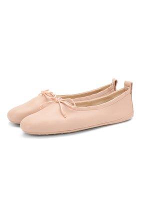 Женские кожаные балетки TOD'S светло-розового цвета, арт. XXW12C0CJ6AS0M | Фото 1