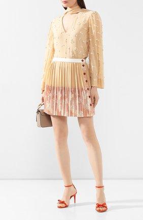 Женские кожаные босоножки RALPH LAUREN оранжевого цвета, арт. 800791829 | Фото 2