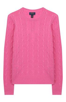 Детский кашемировый пуловер POLO RALPH LAUREN фуксия цвета, арт. 313562294 | Фото 1