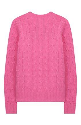 Детский кашемировый пуловер POLO RALPH LAUREN фуксия цвета, арт. 313562294 | Фото 2