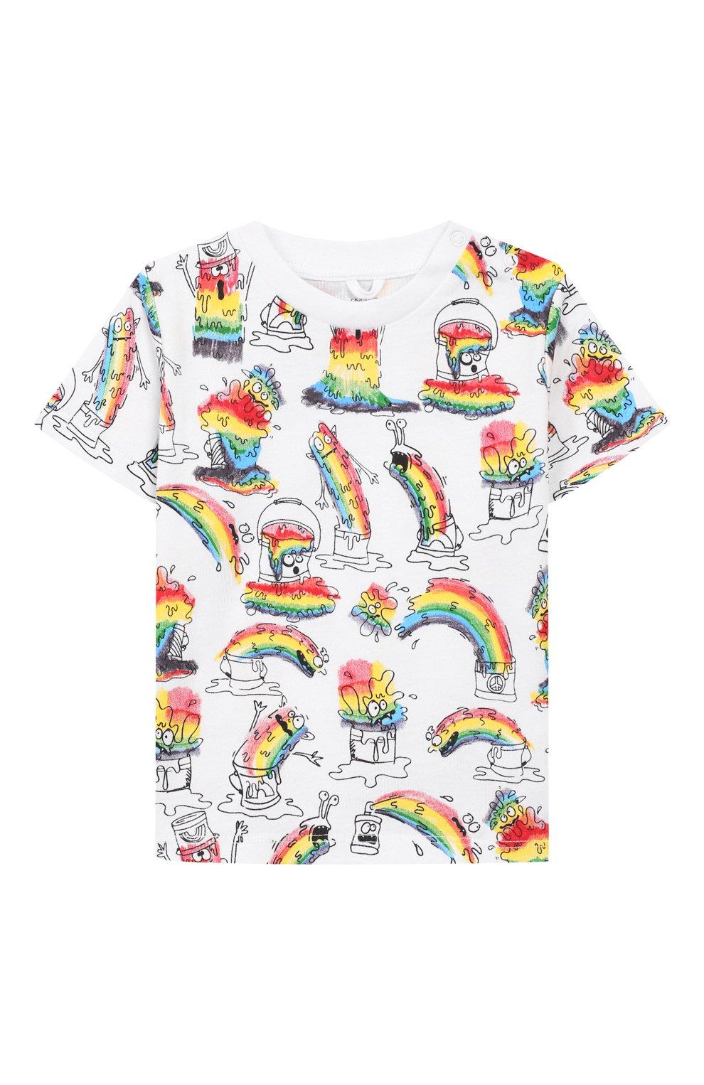 Детский хлопковая футболка STELLA MCCARTNEY разноцветного цвета, арт. 588361/S0J53   Фото 1