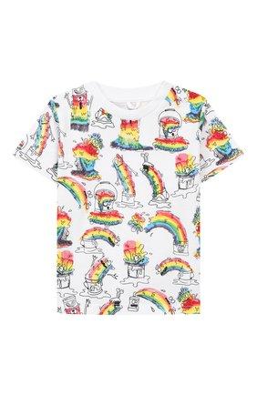 Детский хлопковая футболка STELLA MCCARTNEY разноцветного цвета, арт. 588361/S0J53 | Фото 1