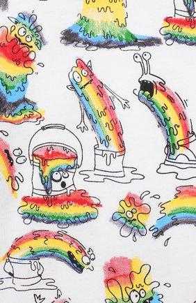 Детский хлопковая футболка STELLA MCCARTNEY разноцветного цвета, арт. 588361/S0J53   Фото 3