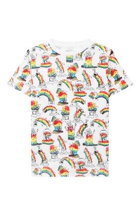 Детская хлопковая футболка STELLA MCCARTNEY разноцветного цвета, арт. 588483/S0J53 | Фото 1