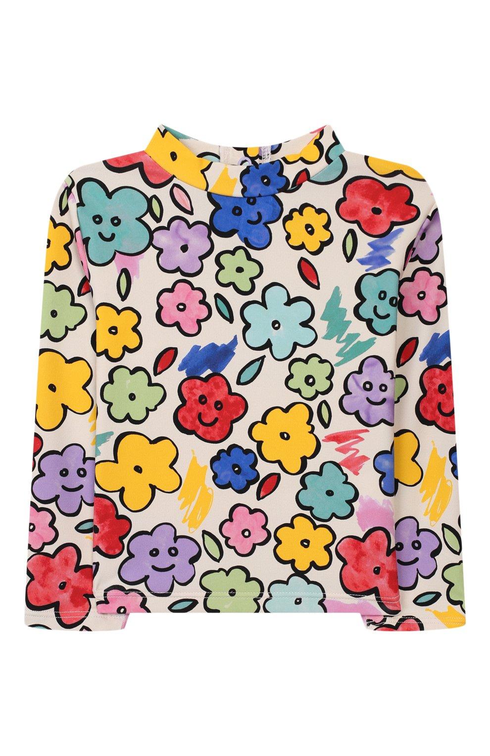 Детского пляжный комплект из лонгслива и плавок STELLA MCCARTNEY разноцветного цвета, арт. 588511/S0K08 | Фото 2
