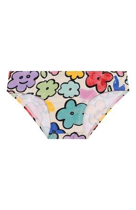 Детского пляжный комплект из лонгслива и плавок STELLA MCCARTNEY разноцветного цвета, арт. 588511/S0K08 | Фото 4