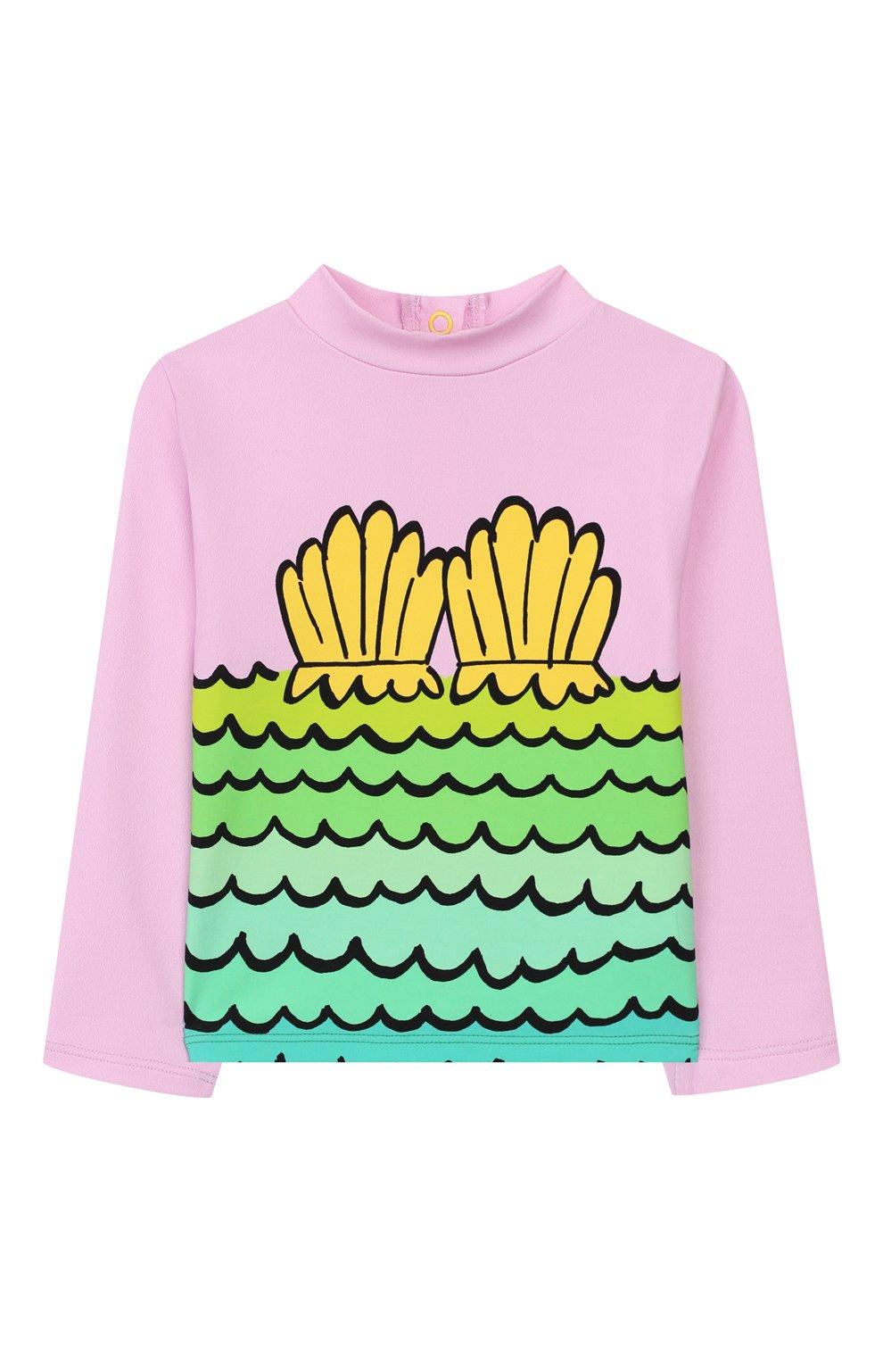 Детского пляжный комплект из лонгслива и плавок STELLA MCCARTNEY разноцветного цвета, арт. 588511/S0K11   Фото 2