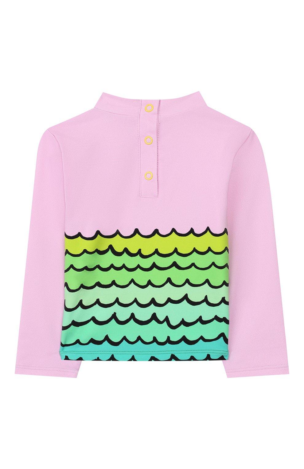 Детского пляжный комплект из лонгслива и плавок STELLA MCCARTNEY разноцветного цвета, арт. 588511/S0K11   Фото 3