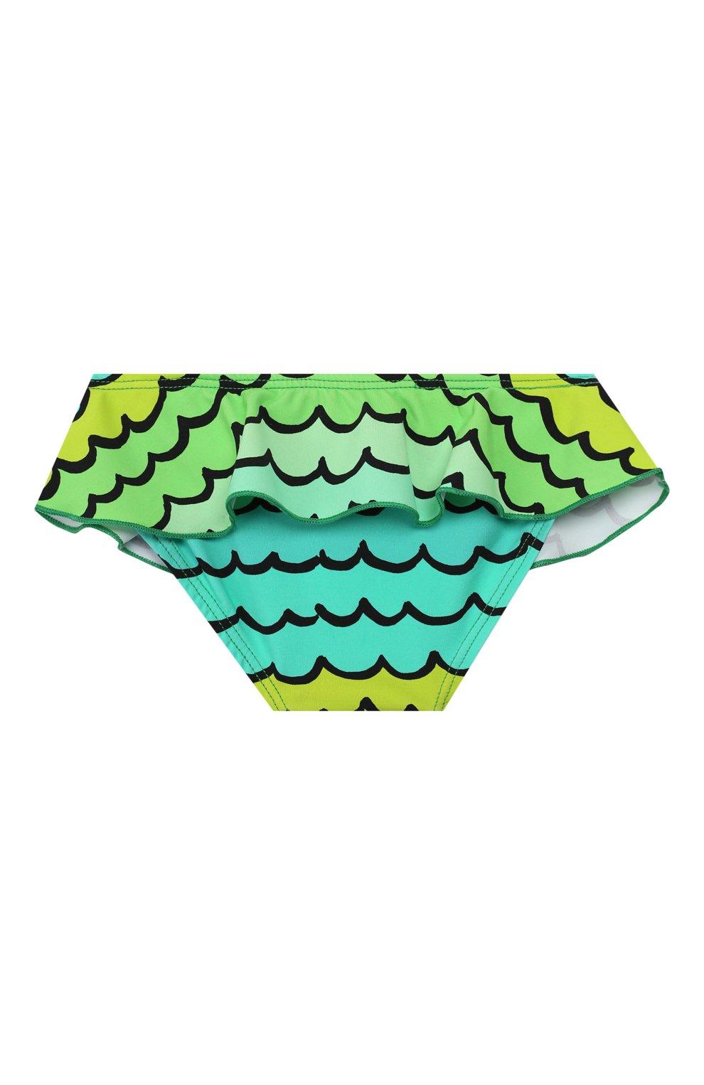 Детского пляжный комплект из лонгслива и плавок STELLA MCCARTNEY разноцветного цвета, арт. 588511/S0K11   Фото 5