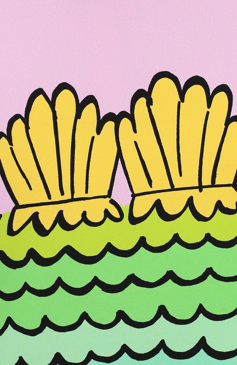 Детского пляжный комплект из лонгслива и плавок STELLA MCCARTNEY разноцветного цвета, арт. 588511/S0K11   Фото 6