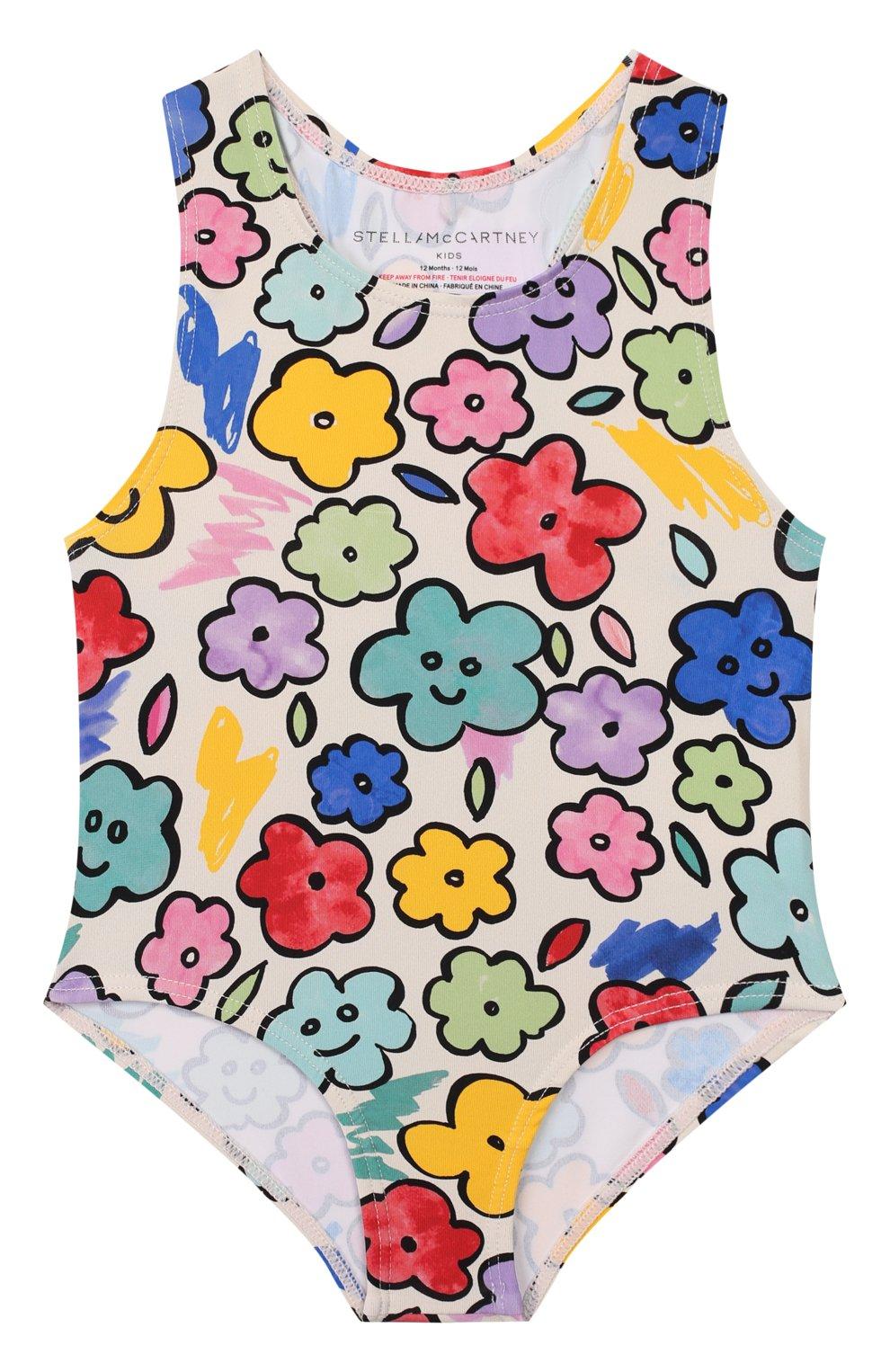 Детского слитный купальник STELLA MCCARTNEY разноцветного цвета, арт. 588518/S0K08 | Фото 1