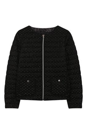 Детская стеганая куртка HERNO черного цвета, арт. GI0044G/20042/10A-14A | Фото 1