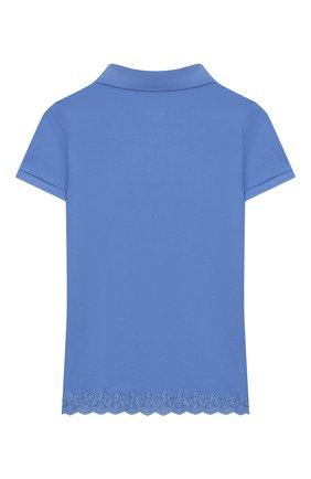 Детское хлопковое поло POLO RALPH LAUREN голубого цвета, арт. 313783917 | Фото 2