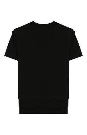 Детская хлопковая футболка MARCELO BURLON KIDS OF MILAN черного цвета, арт. 20E/B/MB/2504/0020/2-6Y | Фото 2