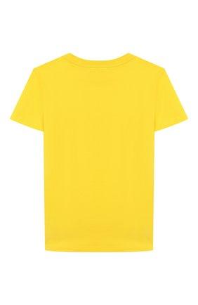 Детская хлопковая футболка GIVENCHY желтого цвета, арт. H25H47 | Фото 2