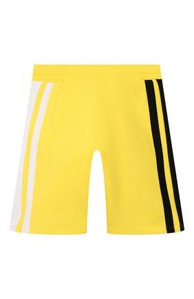 Детские хлопковые шорты GIVENCHY желтого цвета, арт. H24079 | Фото 2