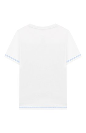 Детская хлопковая футболка MARC JACOBS (THE) белого цвета, арт. W25416 | Фото 2