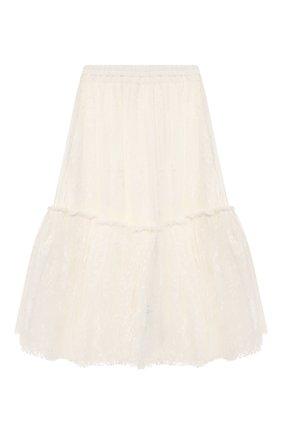 Детская юбка CHARABIA белого цвета, арт. S13004 | Фото 1
