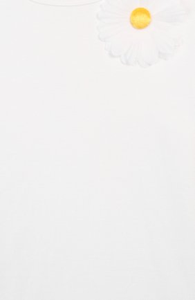 Детская футболка CHARABIA белого цвета, арт. S15000 | Фото 3 (Принт: Без принта; Девочки Кросс-КТ: футболка-одежда; Рукава: Короткие; Материал внешний: Вискоза; Ростовка одежда: 10 - 11 лет | 140 - 146см, 4 года | 104 см, 5 лет | 110 см, 6 лет | 116 см, 8 лет | 128 см)