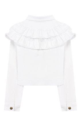 Детская джинсовая куртка CHARABIA белого цвета, арт. S16002 | Фото 2