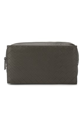 Мужская кожаная поясная сумка BOTTEGA VENETA серого цвета, арт. 609853/VCQH1 | Фото 1