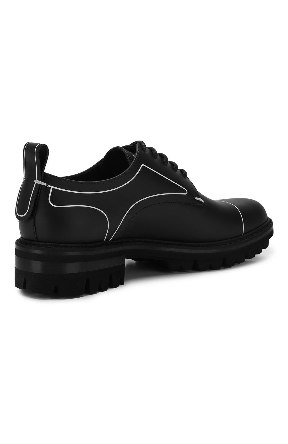 Мужские кожаные дерби DSQUARED2 черного цвета, арт. LUM0046 01500001 | Фото 4