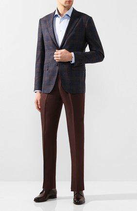 Мужской кожаные дерби MORESCHI темно-коричневого цвета, арт. 43408/198 | Фото 2