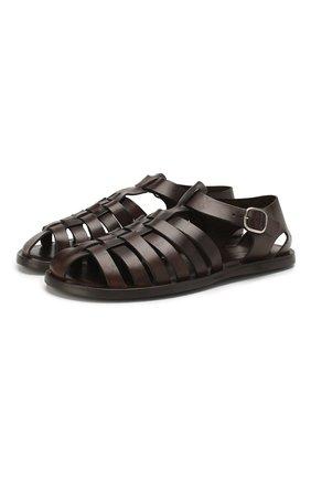 Кожаные сандалии   Фото №1