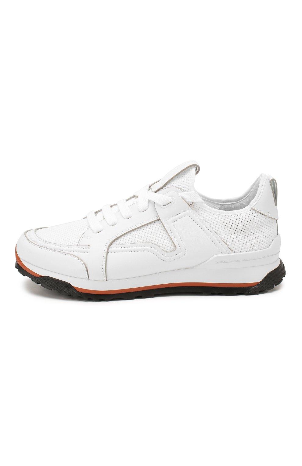 Мужские комбинированные кроссовки ERMENEGILDO ZEGNA белого цвета, арт. A4402X-LHNAF   Фото 3