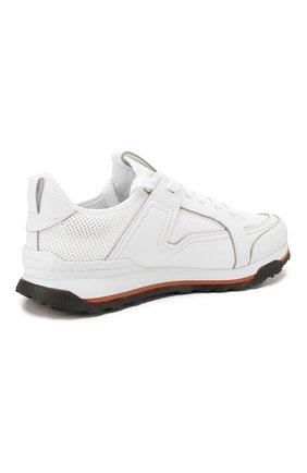 Мужские комбинированные кроссовки ERMENEGILDO ZEGNA белого цвета, арт. A4402X-LHNAF   Фото 4