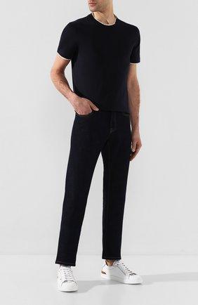 Мужские кожаные кеды ERMENEGILDO ZEGNA белого цвета, арт. A4473X-LHNAT | Фото 2