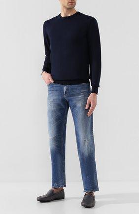 Мужские кожаные лоферы craxon BALLY серого цвета, арт. CRAX0N/525 | Фото 2