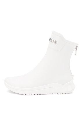 Мужские замшевые кроссовки b-glove BALMAIN белого цвета, арт. TM0C211/LCPA | Фото 3