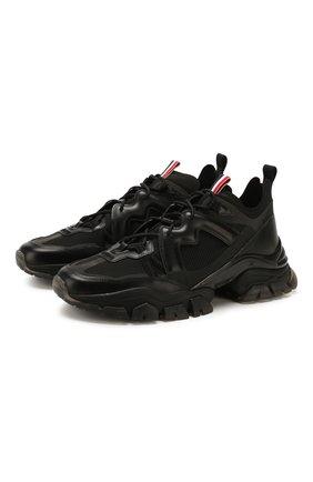 Мужские комбинированные кроссовки MONCLER черного цвета, арт. F1-09A-4M703-40-02S75 | Фото 1