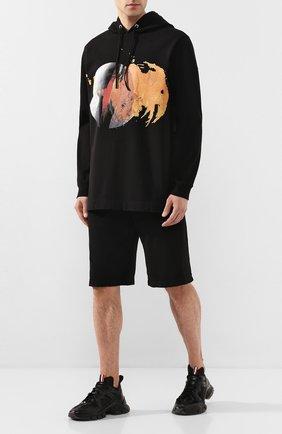 Мужские комбинированные кроссовки MONCLER черного цвета, арт. F1-09A-4M703-40-02S75 | Фото 2