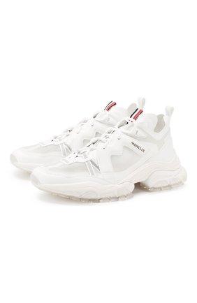 Мужские комбинированные кроссовки MONCLER белого цвета, арт. F1-09A-4M703-40-02S75 | Фото 1