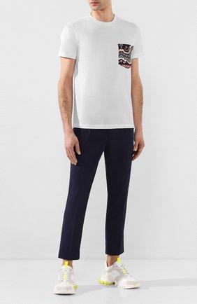 Мужские комбинированные кроссовки MONCLER белого цвета, арт. F1-09A-4M701-40-02S83 | Фото 2