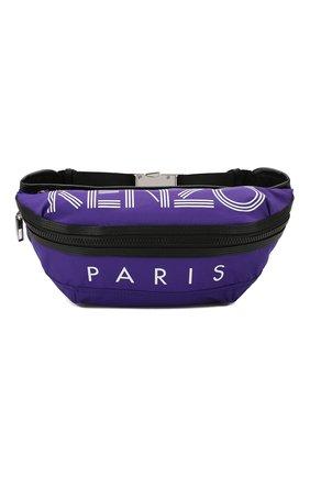 Мужская текстильная поясная сумка KENZO фиолетового цвета, арт. F855SF212F24 | Фото 1