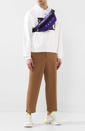 Мужская текстильная поясная сумка KENZO фиолетового цвета, арт. F855SF212F24 | Фото 2