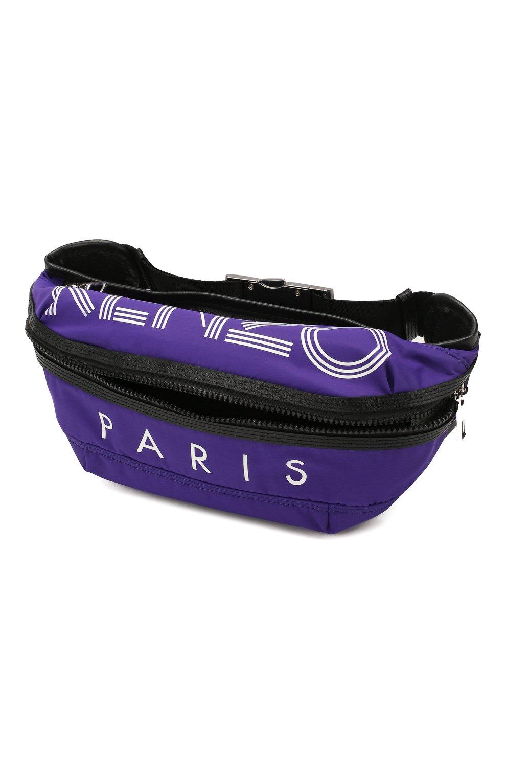 Мужская текстильная поясная сумка KENZO фиолетового цвета, арт. F855SF212F24 | Фото 4