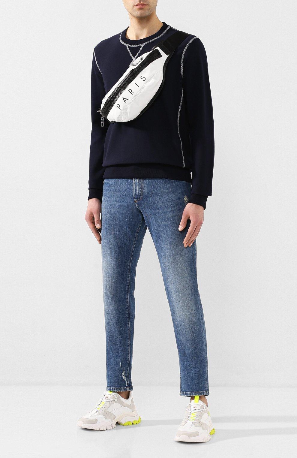 Мужская текстильная поясная сумка KENZO белого цвета, арт. F855SF212F24 | Фото 2