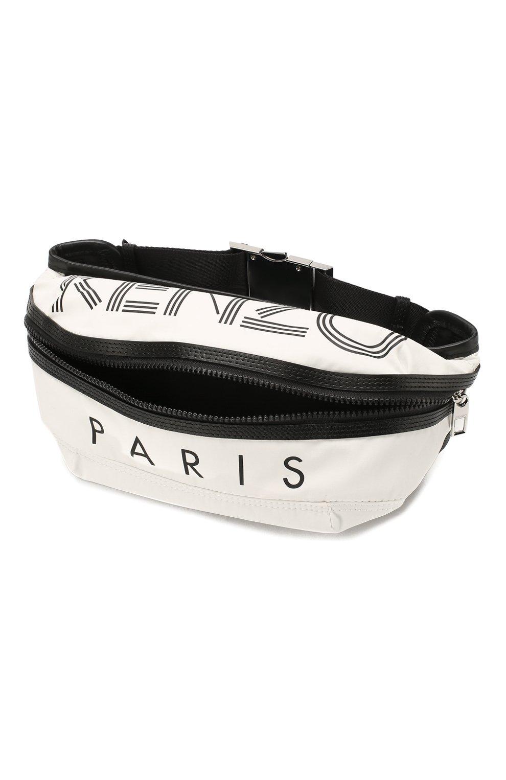 Мужская текстильная поясная сумка KENZO белого цвета, арт. F855SF212F24 | Фото 4