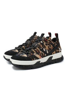 Мужские текстильные кроссовки BURBERRY бежевого цвета, арт. 8024042 | Фото 1