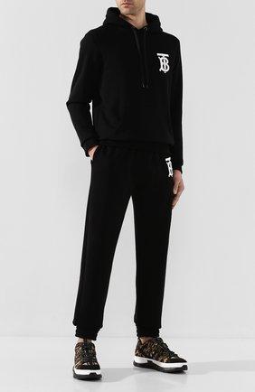 Мужские текстильные кроссовки BURBERRY разноцветного цвета, арт. 8024042 | Фото 2 (Материал внутренний: Текстиль; Материал внешний: Текстиль; Подошва: Массивная; Стили: Гранж)