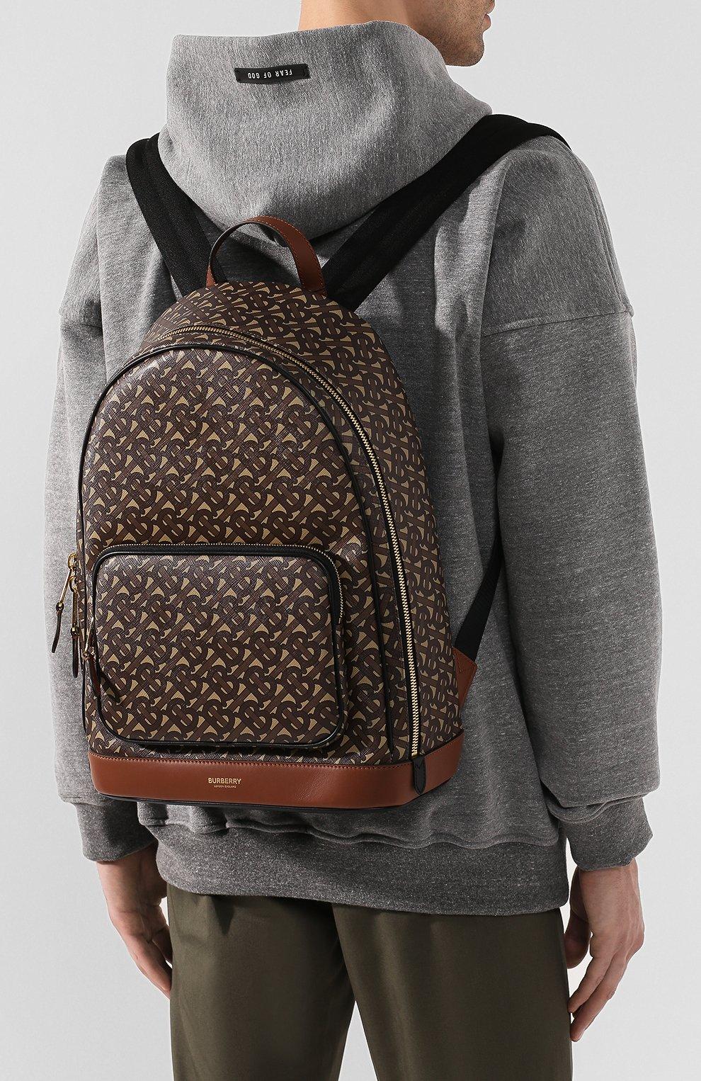 Мужской рюкзак BURBERRY коричневого цвета, арт. 8022543 | Фото 5