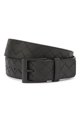 Мужской кожаный ремень BOTTEGA VENETA черного цвета, арт. 609183/VCPQ3 | Фото 1