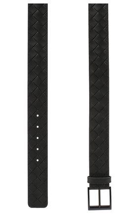 Мужской кожаный ремень BOTTEGA VENETA черного цвета, арт. 609183/VCPQ3 | Фото 2