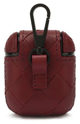 Мужской кожаный чехол для airpods BOTTEGA VENETA бордового цвета, арт. 610263/VCPQ0 | Фото 2